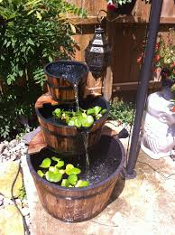 Aquascape Patio Pond Australia by This 3 Tier Wooden Whiskey Barrel Outdoor Patio Water Garden