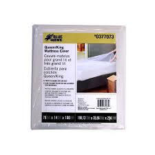 Shop Blue Hawk Plastic Queen King Mattress Cover at Lowes