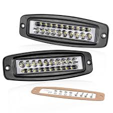 100 Led Work Lights For Trucks Amazoncom Flush Mount LED Pods 7 Inch Swatow Industries 2PCS 80W