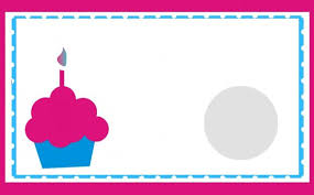 Awesome Scratch f Birthday Card Template Word With White Background Pink Frames And Blue List Gre Circle Pink And Blue Cupcake With Pink Candle