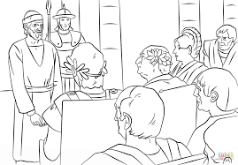Click The Pauls Trials Before Felix Festus And Agrippa Coloring Pages