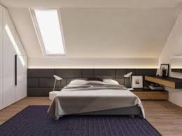 chambres sous combles design interieur chambre sous combles tapis noir lit deux places