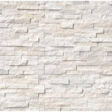 Home Depot Wall Tile Fireplace by Arctic White Ledger Panel 6 In X 24 In Natural Marble Wall Tile
