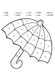 Kindergarten Color Pages Number Coloring Worksheets For Kindergarten