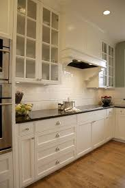 beautiful subway tile backsplash in traditional with