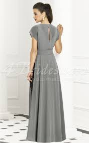 a line cowl chiffon floor length silver bridesmaid dresses bd234