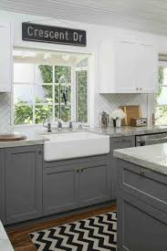 kitchen decoration light blue gray cabinets green stained