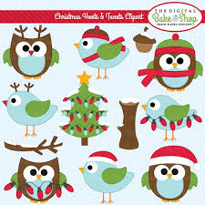 Christmas Hoots And Tweets Clipart Personal Or Commercial Use Licenses Available