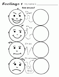 Feeling Coloring Pages Emotions Page With New