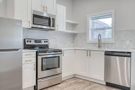 White Kitchen Idea Ikea White Kitchen Cabinets Renovated Rental Kitchen
