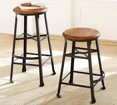 Decker Wood Seat Barstool