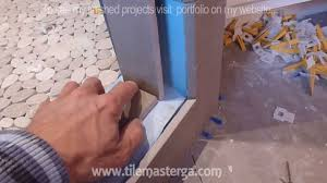 Tile Adhesive Over Redguard by How To Install Shower Surround Tile Backer Board U0026 Waterproofing