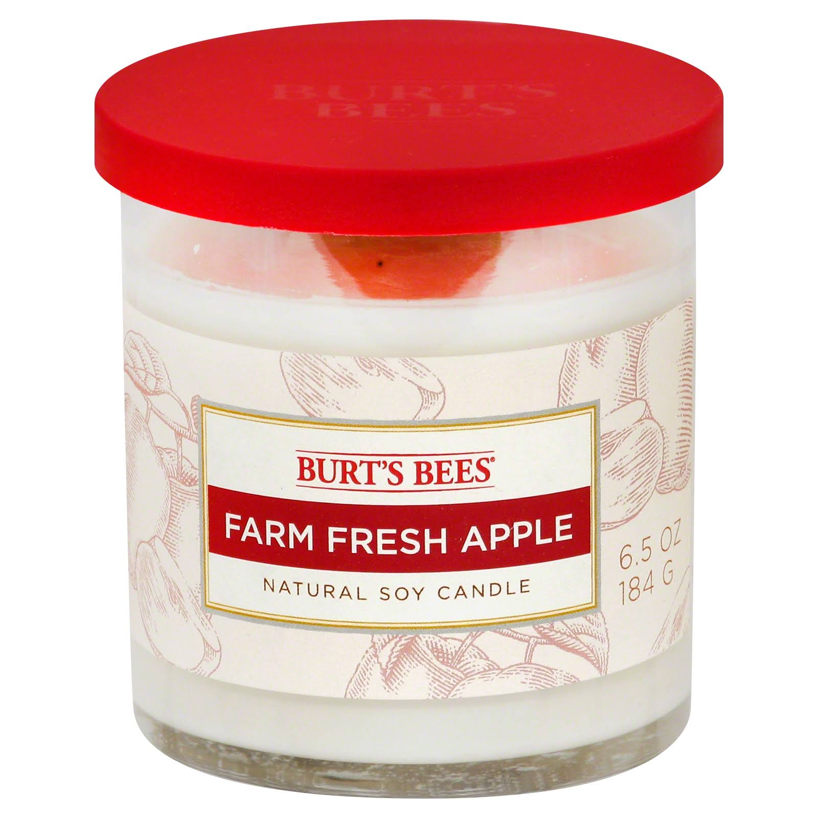 Burt's Bees Small Jar Candle - Farm Fresh Apple, 6.5oz