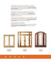 Andersen 400 Series Patio Door Sizes by Andersen Brochure 400 200 Architectural Series Window Door 9040569