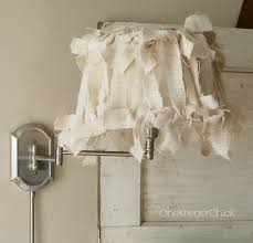 Burlap Covered Lampshade In 4 Easy Steps