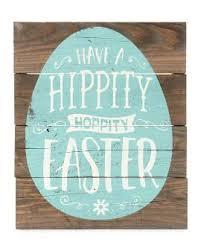 Hippity Hoppity Easter Wood Sign 10
