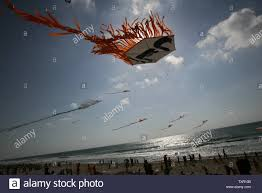 100 Flying Cloud Camp Thousands Of Palestinian Children Fly Kites Along The Beach