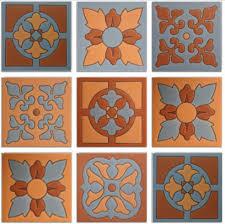 4 25 x4 25 mission raised relief 9 ceramic mexican tile set