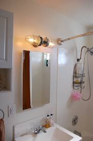 Modern Bathroom Vanity Sconces by Industrial Bathroom Lighting Vanity Light Double Head Cage Wall