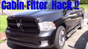 Ram 1500 Cabin Filter Mod !! - YouTube