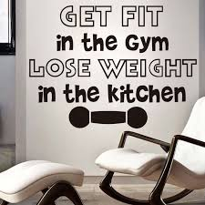 Get Fit In The Gym Lose Weight Kitchen Wall Stickers Inspiring Home Decor Vinyl