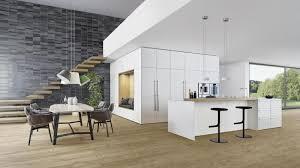 abgestimmtes äußeres für küche und wohnbereich