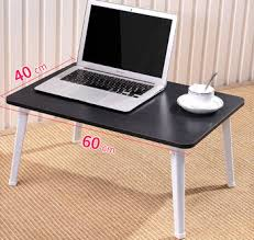 Mdf Foldable Portable Laptop Study Bed Tray Table With Metal Legs