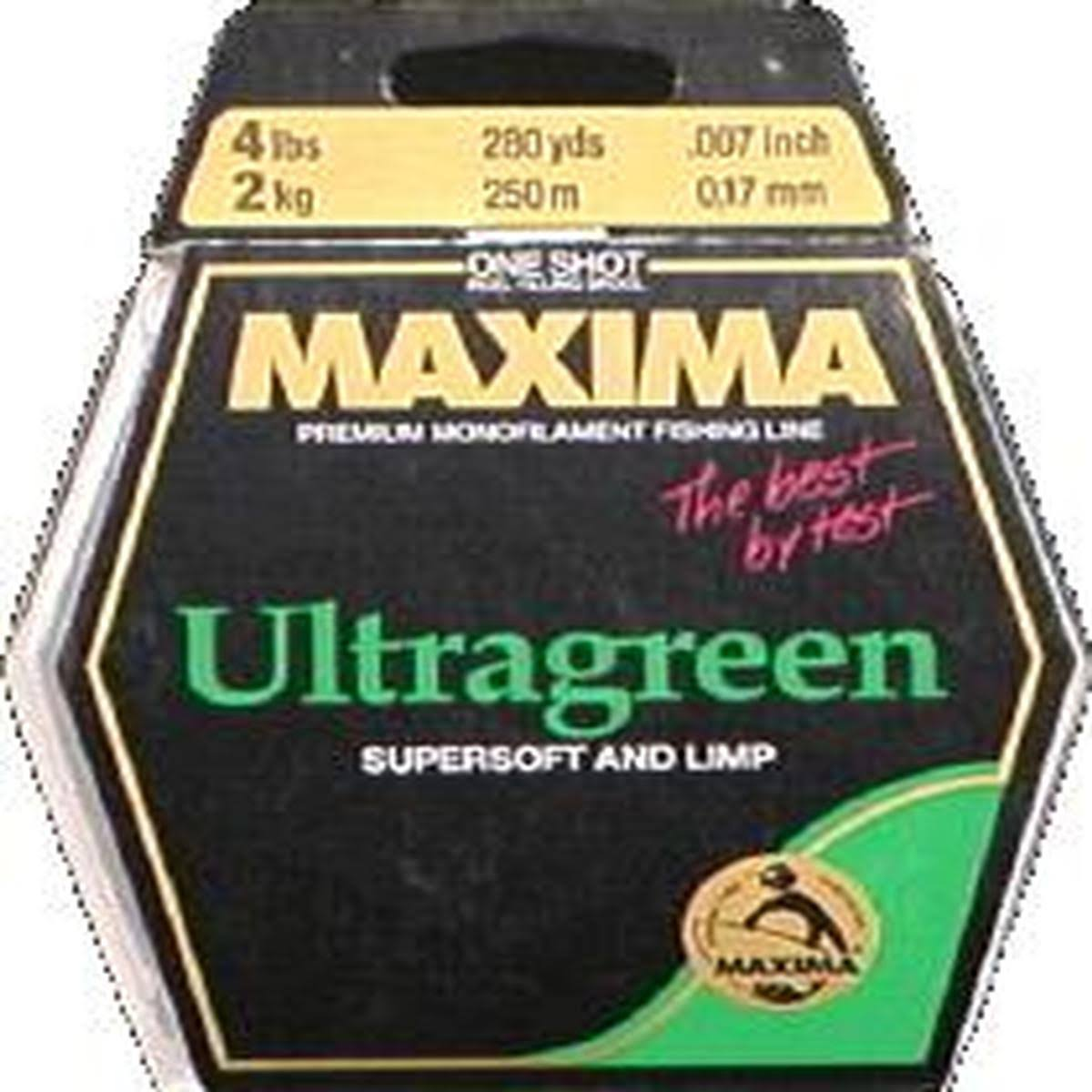 Maxima One Shot Spool Monofilament Line - Green, 280 Yards