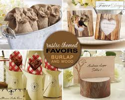 Rustic Themed Wedding Favors And Chalkboard