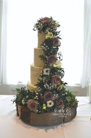 Amnesia Roses Cascade Rustic Wedding Cake White Rose Design Natasha Coustol Flowers