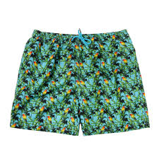100 Coco Republic Sale Mens Tropical Bird Board Shorts In Turquoise