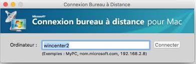bureau a distance connexion bureau a distance mac support exploitation