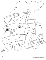 A Jeep Coloring Pages