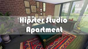The Sims 4 Room Build Hipster Studio Apartment Youtube Intended For Bedroom