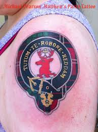 My Newest Tattoo Scottish Clan Crawford Crest And Tartan Tutem Te Robore Reddem Roughly Means We Will Protect Your Trust With Our Strength