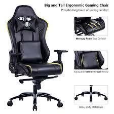 100 Heavy Duty Office Chairs With Removable Arms Amazoncom KILLABEE Big And Tall Metal Base Gaming Chair