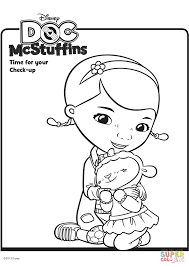 Doc McStuffins With Lambie Coloring Page Inside Mcstuffins Color Pages