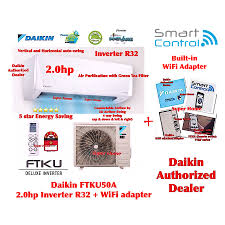 klang valley daikin r32 inverter wall mounted ftku series ftku50a rku50f smart 2 0hp inverter wall mounted air conditioner r32 5