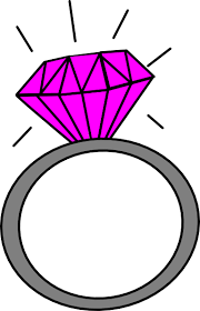 pink wedding ring clipart