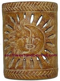 wall sconce rustic clay light cover mexican wall