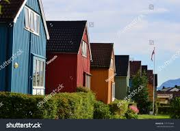 100 Houses In Norway Colorful Stock Photo Edit Now 777777943
