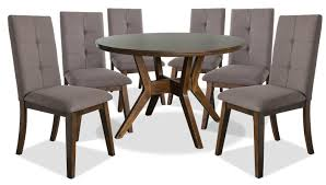 Chelsea 7-Piece Round Dining Table Package With Brown Chairs Sonoma Road Round Table With 4 Chairs Treviso 150cm Blake 3pc Dinette Set W By Sunset Trading Co At Rotmans C1854d X Chairs Lifestyle Fniture Fair North Carolina Brera Round Ding Table How To Find The Right Modern For Your Sistus Royaloak Coco Ding With Walnut Contempo Enka Budge Neverwet Hillside Medium Black And Tan Combo Cover C1860p Industrial Sam Levitz Bermex Pedestal Arch Weathered Oak Six