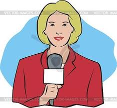 Clip Art Female Journalists