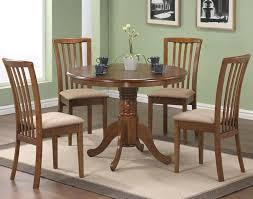 round pedestal dining table with leaf contemporary and chairs