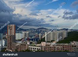 100 Skyline Residence Scenic Cittyscape Cloud Day Stock Photo