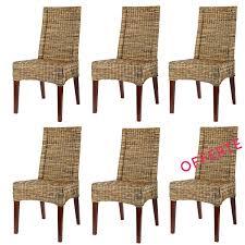 lot de 6 chaises en osier pas chères chaises en rotin pas chères