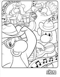 Fresh Club Penguin Coloring Pages 47 For Your Free Book With