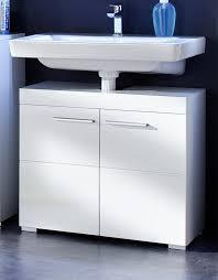 waschbeckenunterschrank amanda weiß hochglanz 2 türig 60x56 cm
