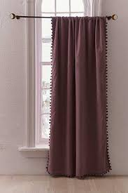 Dark Purple Ruffle Curtains by Window Curtains Window Panels Urban Outfitters