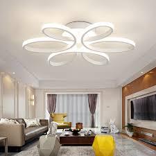 led deckenleuchten aus acryl floral design im schlafzimmer